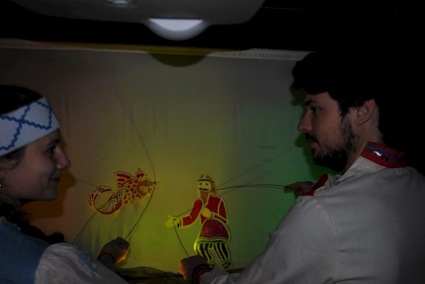 теневой театр сказка о рыбаке и рыбке